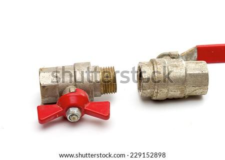 valve on the white background - stock photo