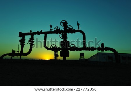 Valves and piping  - stock photo