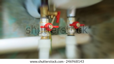 Valves blocking access to water pipes