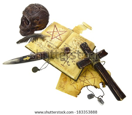 Vampire killer objects isolated - stock photo
