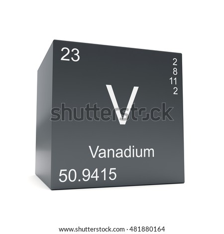 element project vanadium The element's name and atomic number are clearly represented however, the element symbol (v) is formed by shape, rather than a literal character, and serves as the backdrop of the composition in all, the colors, forms, and the lines of the composition combine to portray vanadium in a dominated and industrialized way.