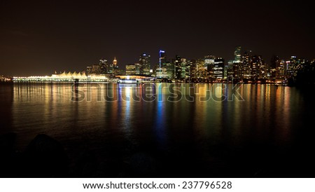 Vancouver at night