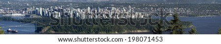 Vancouver BC panoramic view from Cypress, June 14 (2.4 metres wide picture)