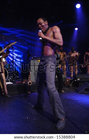 "Vancouver, Canada, 25 June 2008: ""Seun Kuti and Egypt 80"" perform in Vancouver, Canada"
