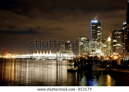Vancouver Harbor at night two