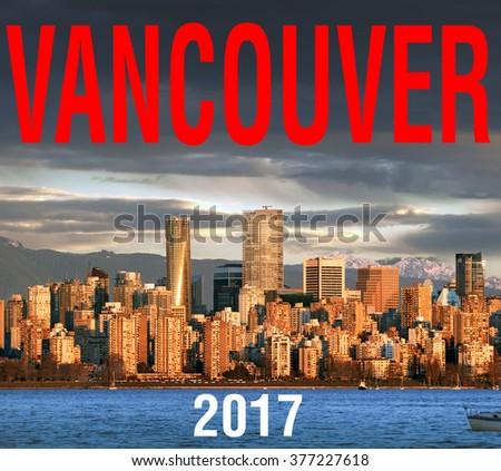 Vancouver in February 2016, British Columbia, Canada - stock photo