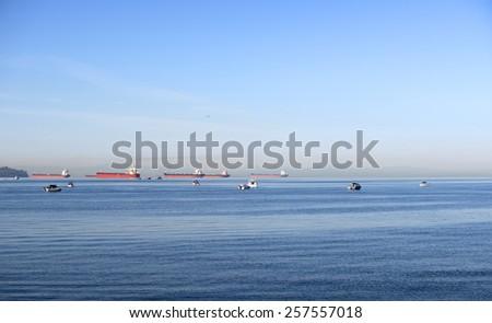 Vancouver - Salmon (Coho) fishing at English Bay, British Columbia, Canada - stock photo