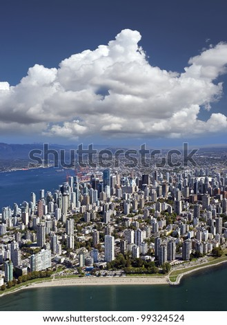 Vancouver -  West End and downtown, British Columbia - stock photo