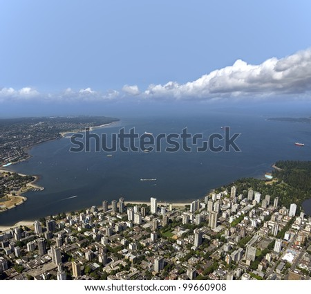 Vancouver West End and English Bay, British Columbia - stock photo