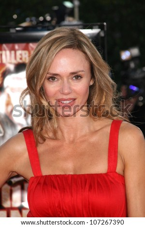 Vanessa Angel  at the Los Angeles Premiere of 'Tropic Thunder'. Mann's Village Theater, Westwood, CA. 08-11-08 - stock photo