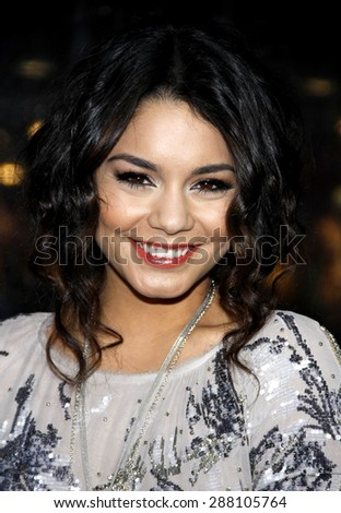 Vanessa Hudgens at the Los Angeles premiere of 'Sucker Punch' held at the Grauman's Chinese Theater in Hollywood on March 23, 2011.  - stock photo
