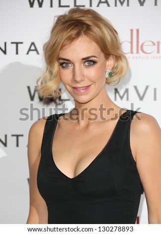 Vanessa Kirby at WilliamVintage - VIP private dinner held at St Pancras Renaissance Hotel, London, England. 08/02/2013 Picture by: Henry Harris