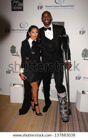 Vanessa Laine Bryant, Kobe Bryant at An Unforgettable Evening Presented by Saks Fifth Avenue, Beverly Wilshire Hotel, Beverly Hills, CA 05-02-13 - stock photo
