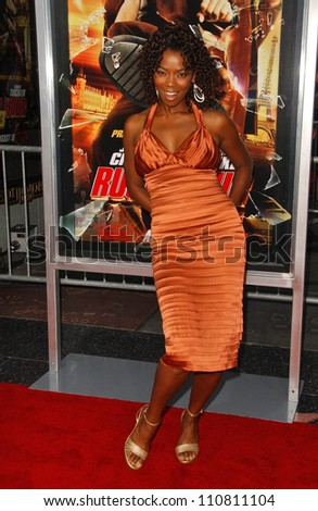 "Vanessa Williams at the Los Angeles Premiere of ""Rush Hour 3"". Mann's Chinese Theater, Hollywood, CA. 07-30-07 - stock photo"