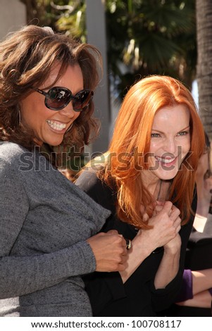 Vanessa Williams, Marcia Cross at the Felicity Huffman and William H. Macy Stars on the Hollywood Walk Of Fame Ceremony, Hollywood, CA 03-07-12