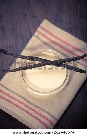 Vanilla bean Creme brulee  - stock photo