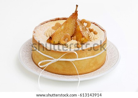 Colored Pear Slice Cake Decorations