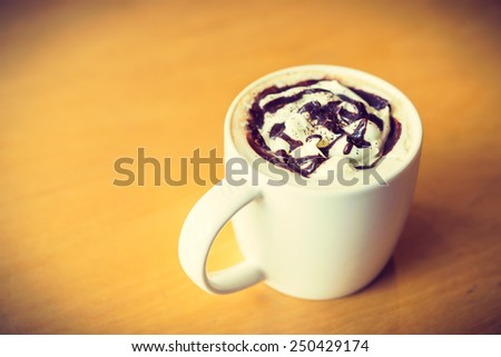 Vanilla coffee process vintage style picture - stock photo