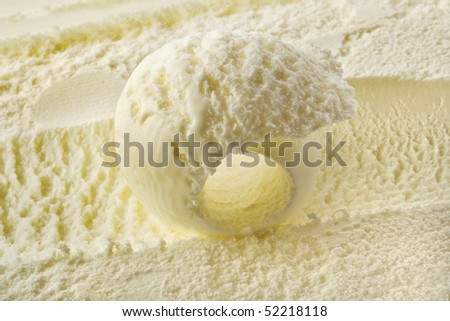 vanilla ice cream - stock photo
