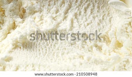 Vanilla ice cream detailed macro texture  - stock photo