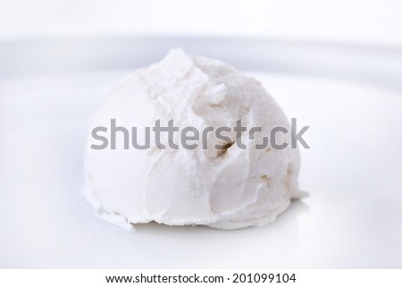 Vanilla ice cream  isolated on white
