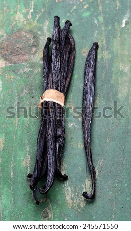 vanilla pods high resolution image - stock photo