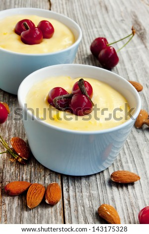 Vanilla pudding - stock photo