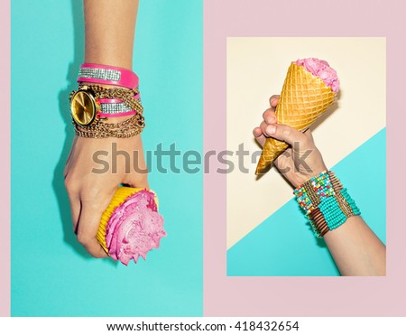 Vanilla Sweet Summer. Fashion Accessories. Stylish Bracelets and Watches.