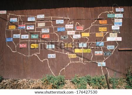 Vanity License Plate - USA - stock photo