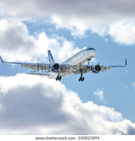 VANTAA, FINLAND - APRIL 8: Boeing 757 of Finnair near Helsinki-Vantaa Airport on April 8, 2012 in Vantaa, Finland. Finnair is the flag carrier and largest airline of Finland.
