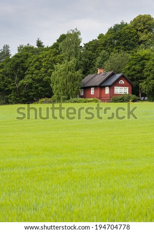 VANTAA, FINLAND - JULY 5, 2013: Country house in Vantaa, Finland.