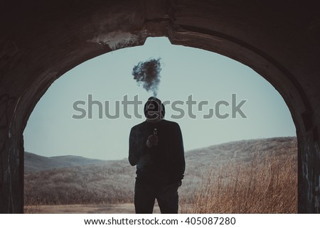 Vaping as a lifestyle - stock photo