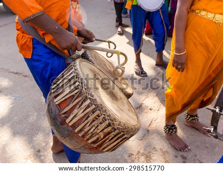 VARANASI, INDIA - January 1, 2015: Ganges river and Varanasi ghats during Kumbh Mela festival mornimg., Varanasi, India - stock photo