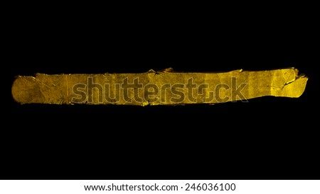 Varangian or Viking gold ingot, X-XI century - stock photo