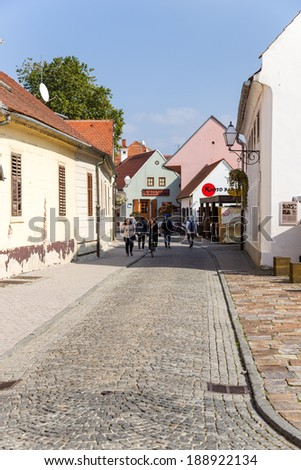 Varazdin, Croatia - SEPTEMBER 25, 2013: Photo of old town
