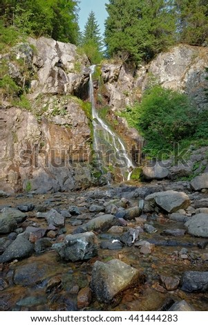 Varciorog Waterfall in the Apuseni Mountains near Arieseni,  Romania