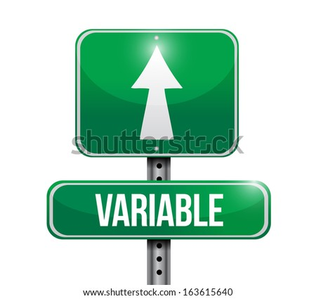 variable road sign illustration design over white