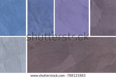 Variants of the texture of the plaster, decorative wall coverings