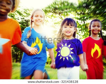 Variation Children Kids Friendship Cheerful Concept