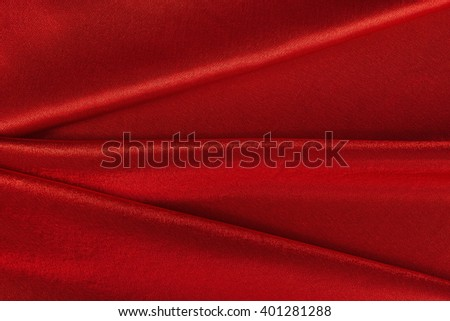 Variation of scene-background with red velvet with straight folds. - stock photo