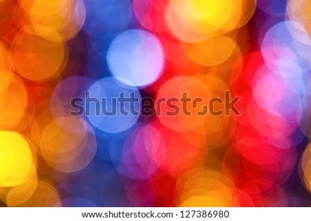 varicolored bokeh background - stock photo