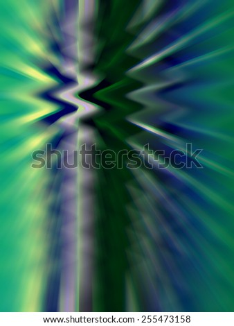 Varicolored geometric illustration of reverberation with zigzags and rays - stock photo