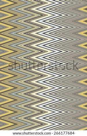 Varicolored zigzag pattern for decoration and background, for motifs of symmetry, synergy, predictability - stock photo
