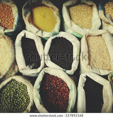 Variety Agricultural and Farm Product Crop Concept - stock photo