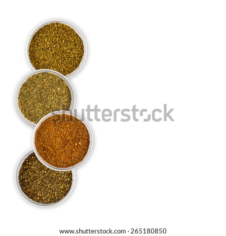Variety Blend Seasoning isolated - stock photo