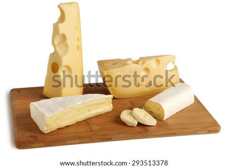 Variety cheese assortment - stock photo