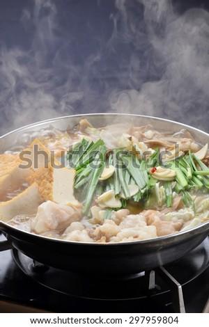variety meat hot pot, sukiyaki, japanese cuisine-1 - stock photo