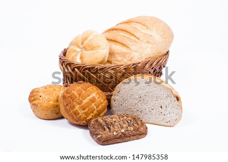 Variety of bakery products