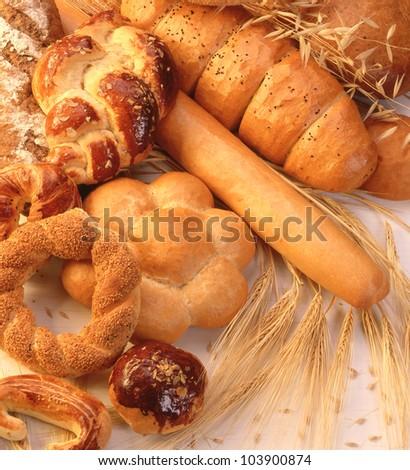 Variety of bread - stock photo