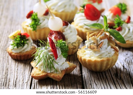 Finger food stock photos royalty free images vectors for Canape toppings ideas
